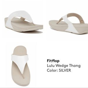 Fitflop Silver Thong Sandal S4